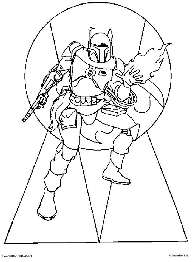 Star Wars Coloring Pages Boba Fett Download