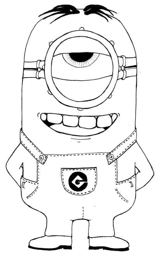 Collection Of Printable Minion Coloring Page