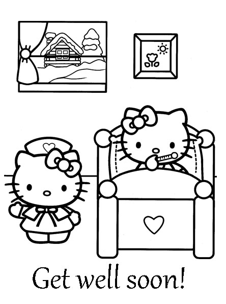 Images For > Hello Kitty Get Well Soon Card