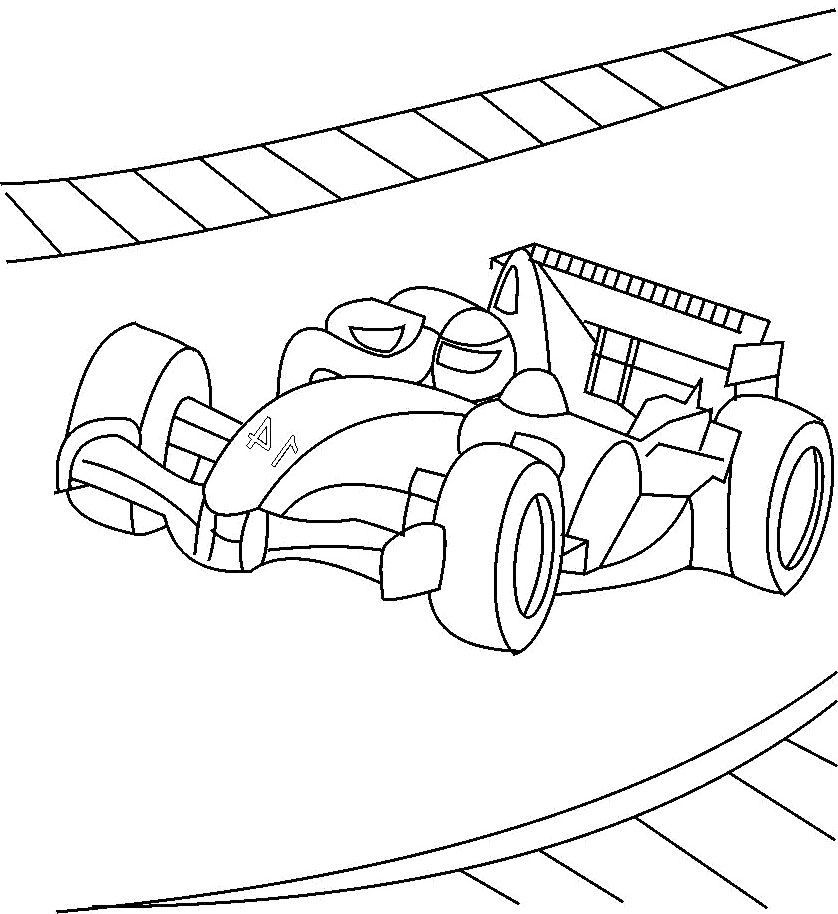 Horse Race Track Coloring Coloring Pages