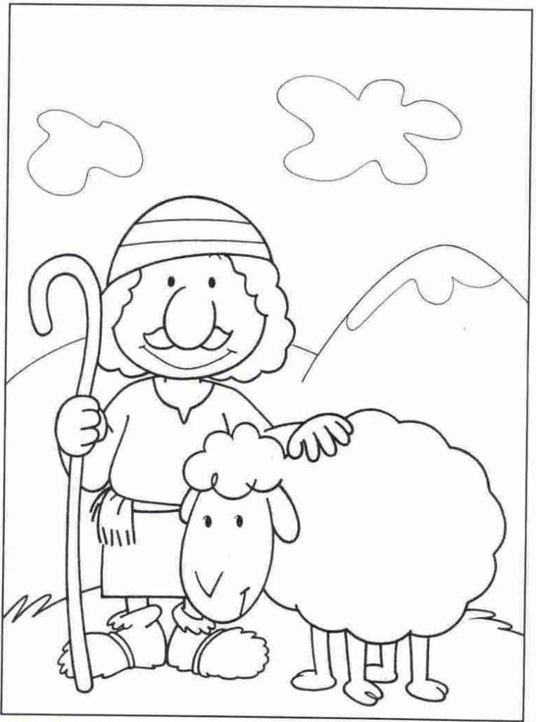 Free coloring pages of good shepherd