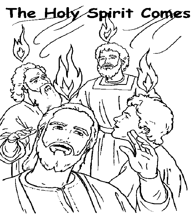 Holy Spirit Pentecost Coloring Page Coloring Pages