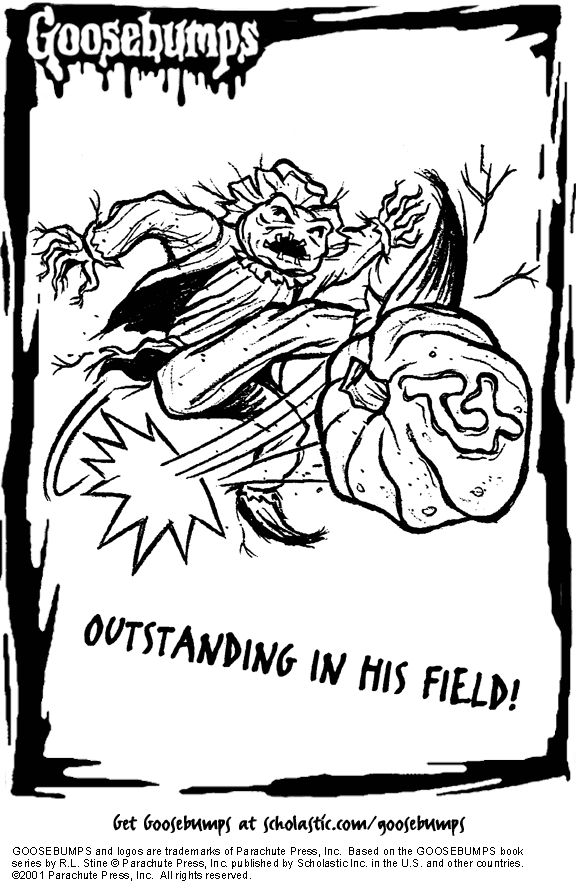 Goosebumps Coloring Pages Coloring Home