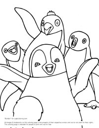 Happy Feet Coloring Pages - AZ Coloring Pages