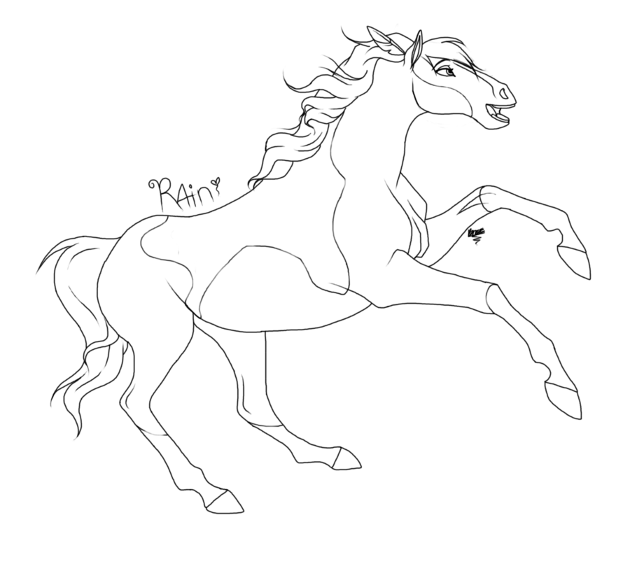 Spirit Horse Coloring Pages To Print