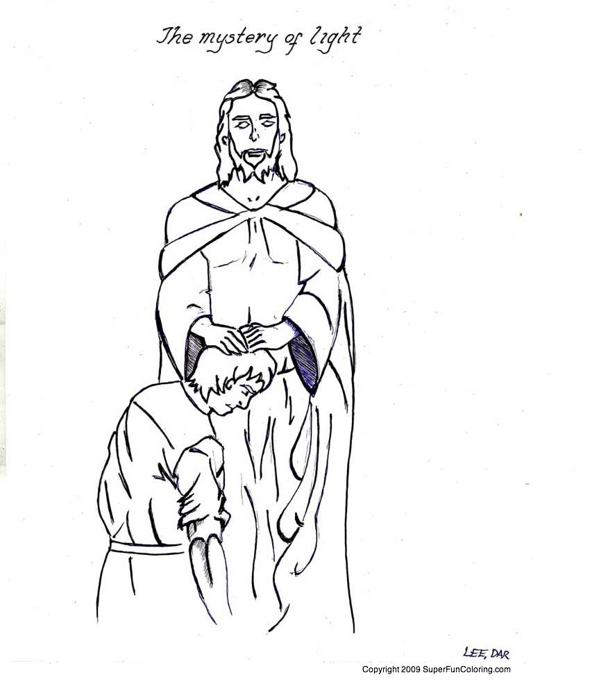 Jesus Is The Light Page Coloring Pages