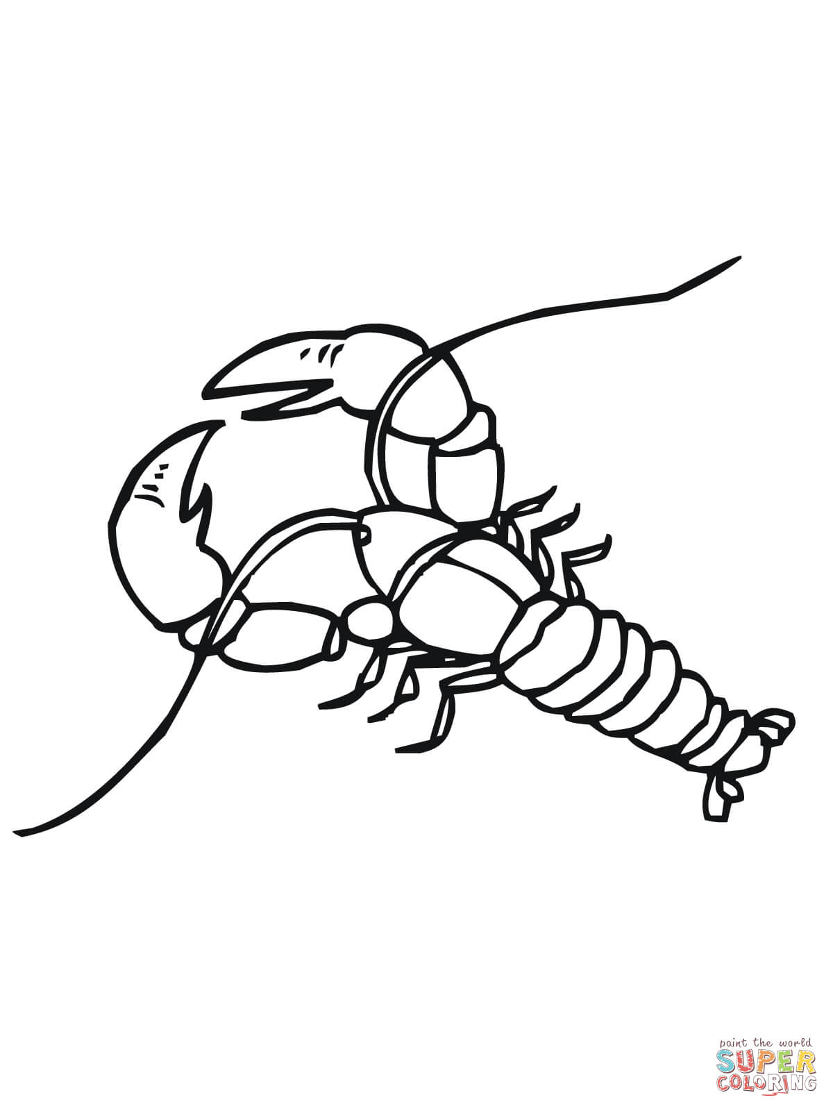Crawfish Coloring Page