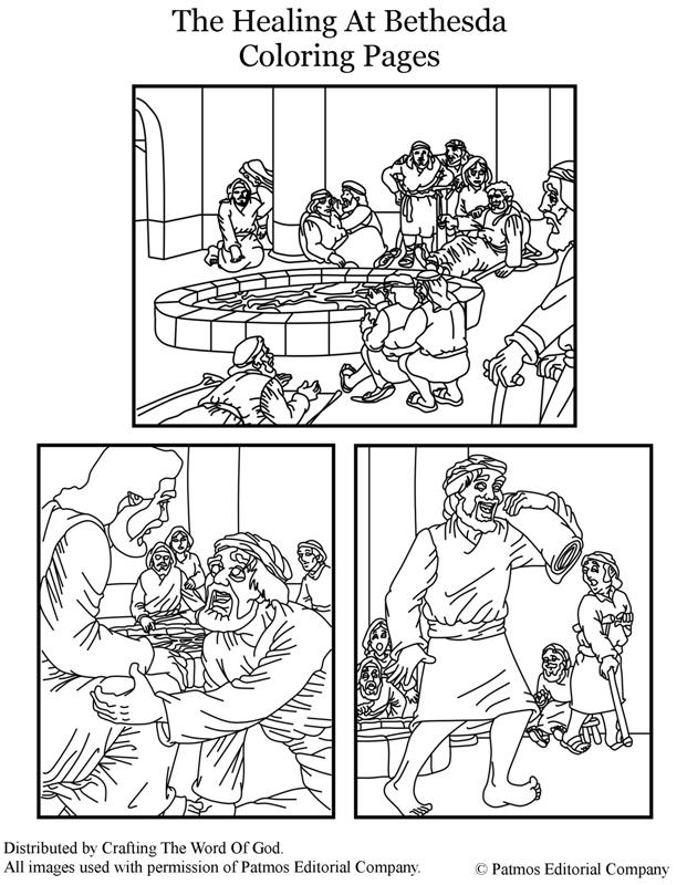 Pool Of Bethesda Coloring Page Coloring Pages
