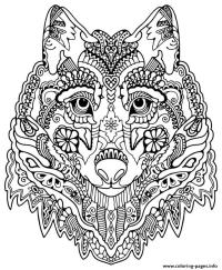 Wolf Face Coloring Page - AZ Coloring Pages