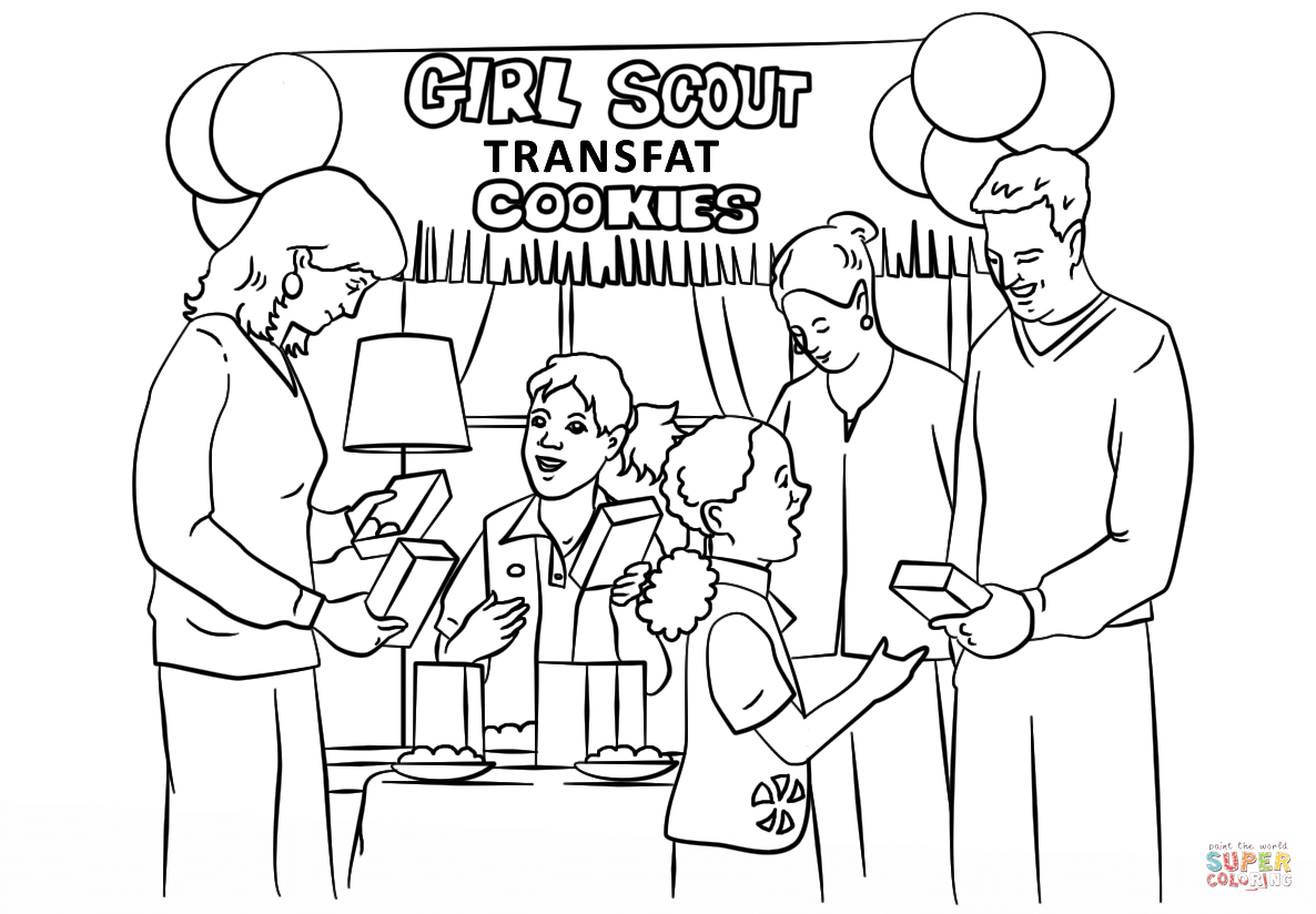 Brownie Girl Scout Coloring Pages Az Sketch Coloring Page
