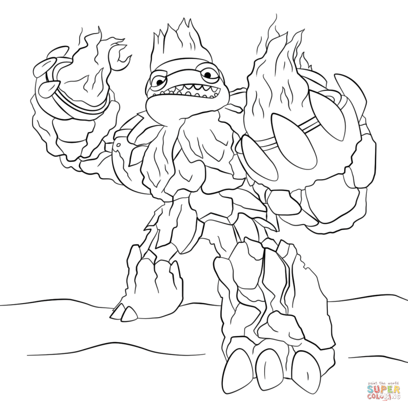 hothead skylander giant  free colouring pages