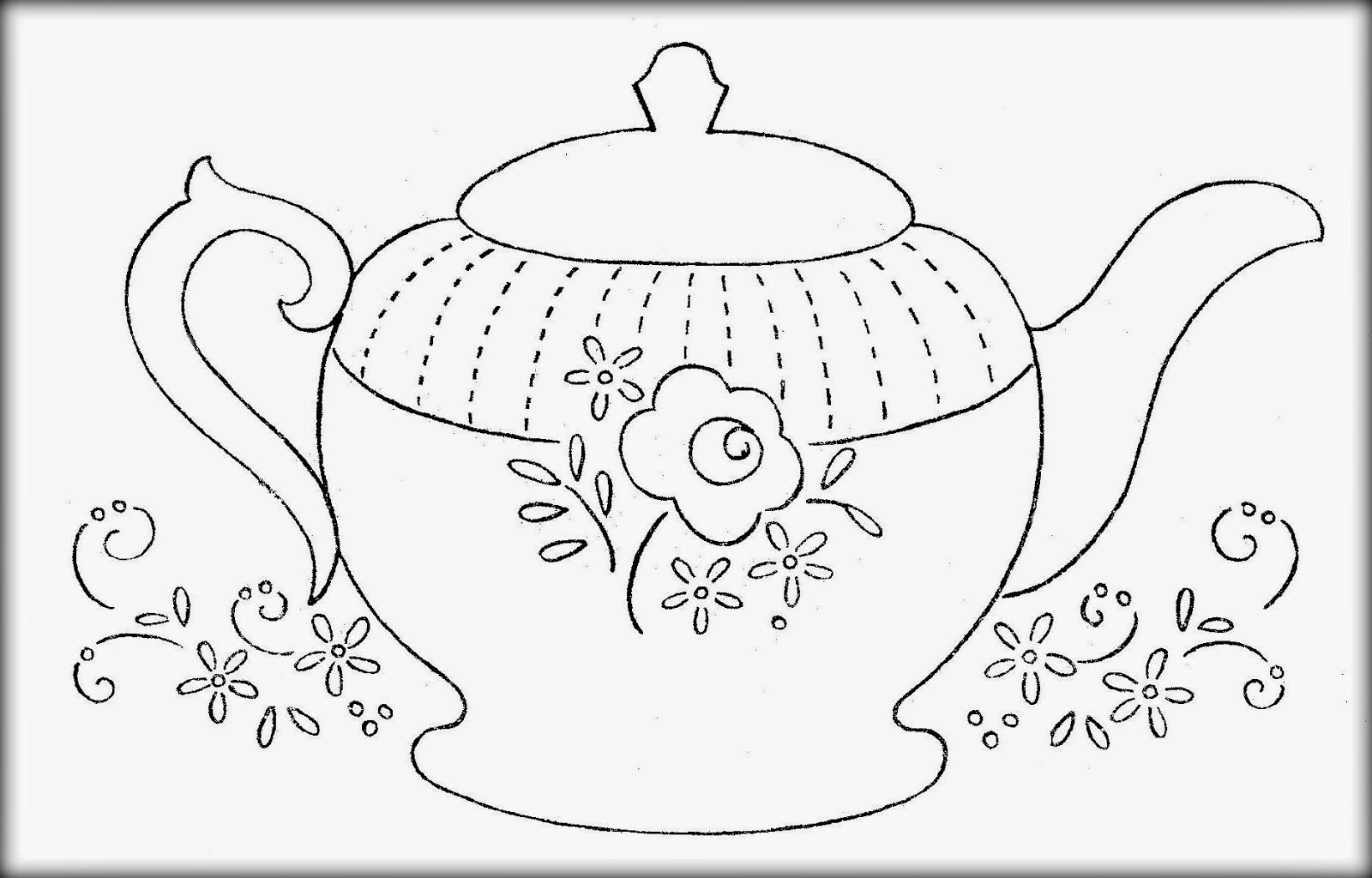 Teapot Coloring Pages