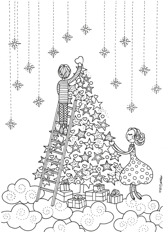 Adult Christmas Coloring Pages AZ Coloring Pages
