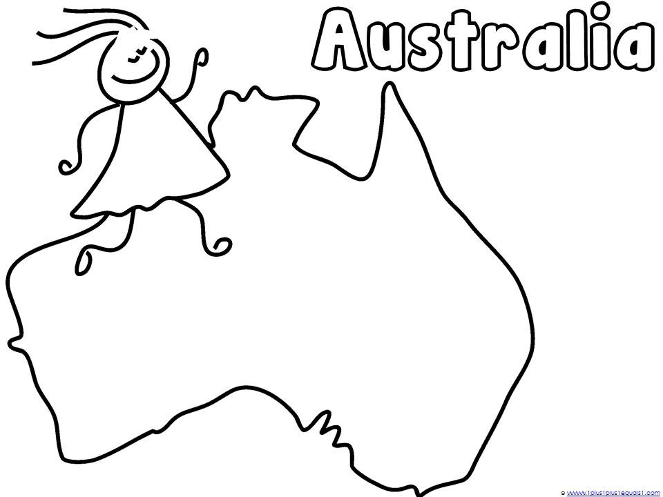 Large Blank Continents Coloring Page Coloring Pages