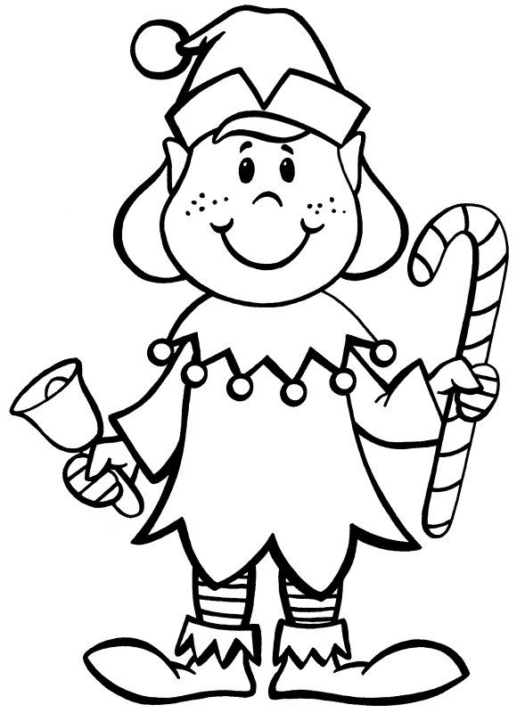 Elf On The Shelf Free Printables To Color