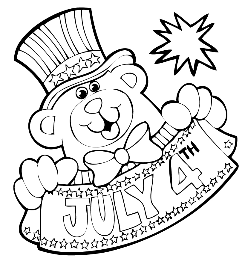 4th Of July Free Coloring Sheets 2014, Free Printables For