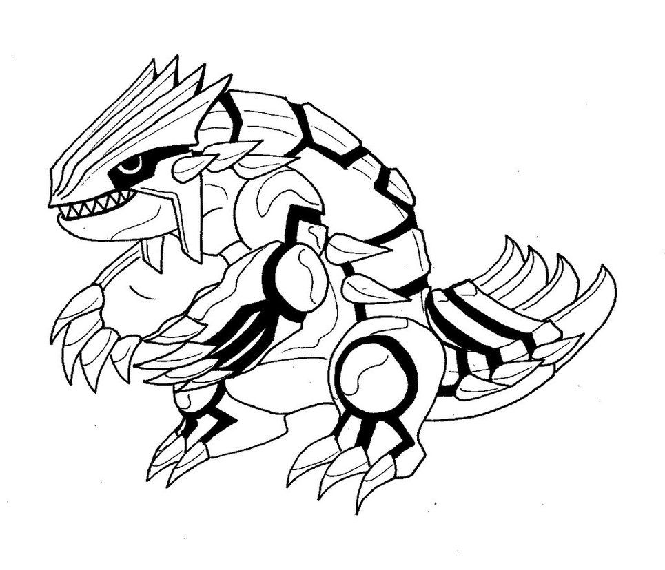 Page Groudon Coloring And Kyogre Primal