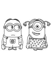 Despicable Me Minion Coloring Pages - Coloring Home