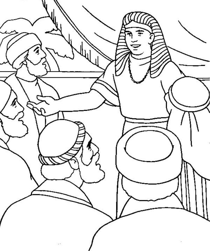 joseph and brothers Colouring Pages (page 2)