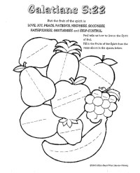 Fruit Of The Spirit Coloring Page - AZ Coloring Pages