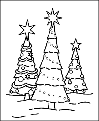 Christmas Tree Coloring Page Free - Coloring Home