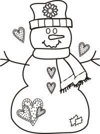 Printable Coloring Pages Christmas Snowman - Coloring Home
