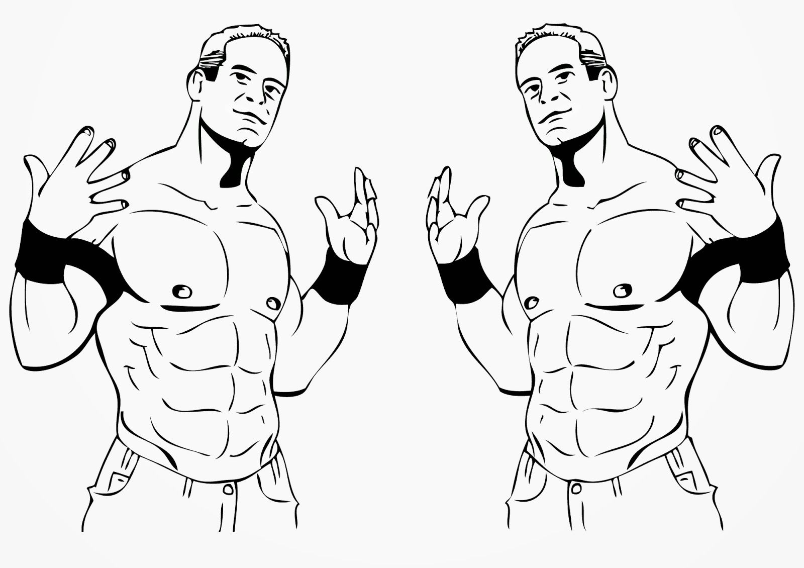 John Cena Coloring Easy Coloring Pages