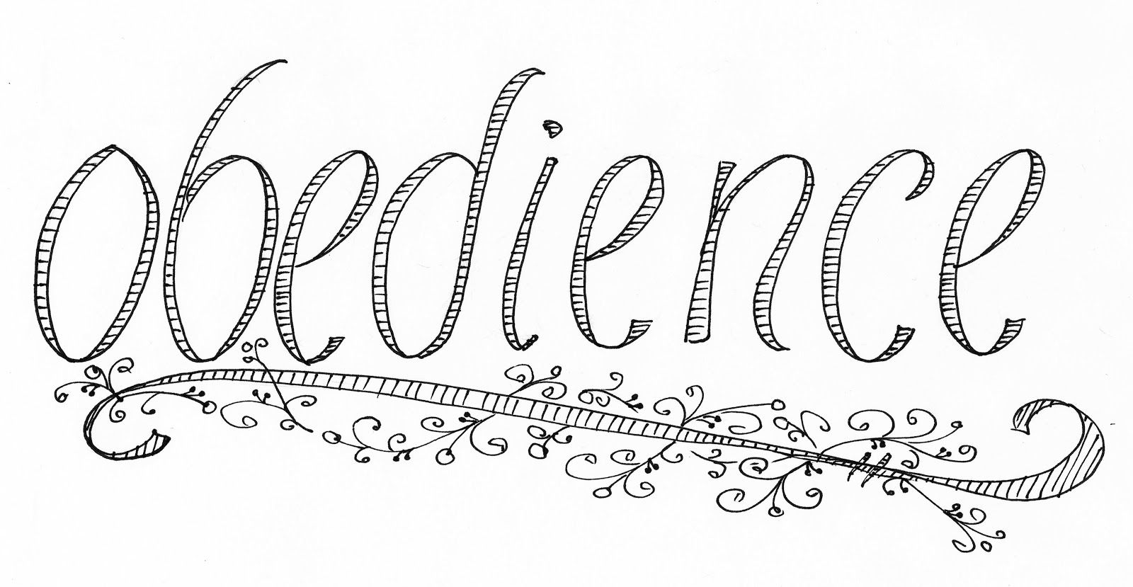 O Is For Obedience Page Coloring Pages