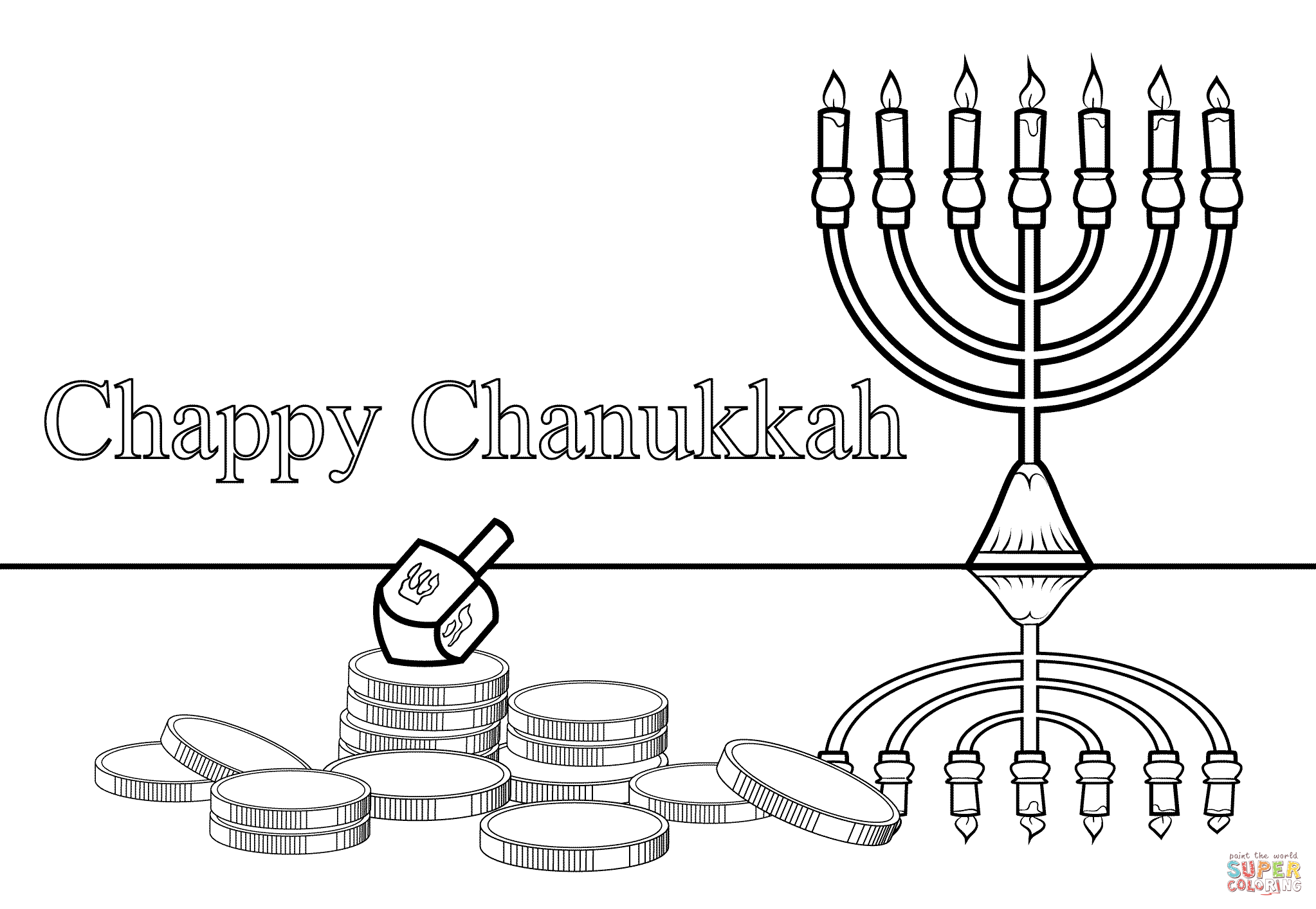 Free Hanukkah Coloring Pages Printable