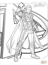 Free Printable Coloring Pages Avengers - Coloring Home