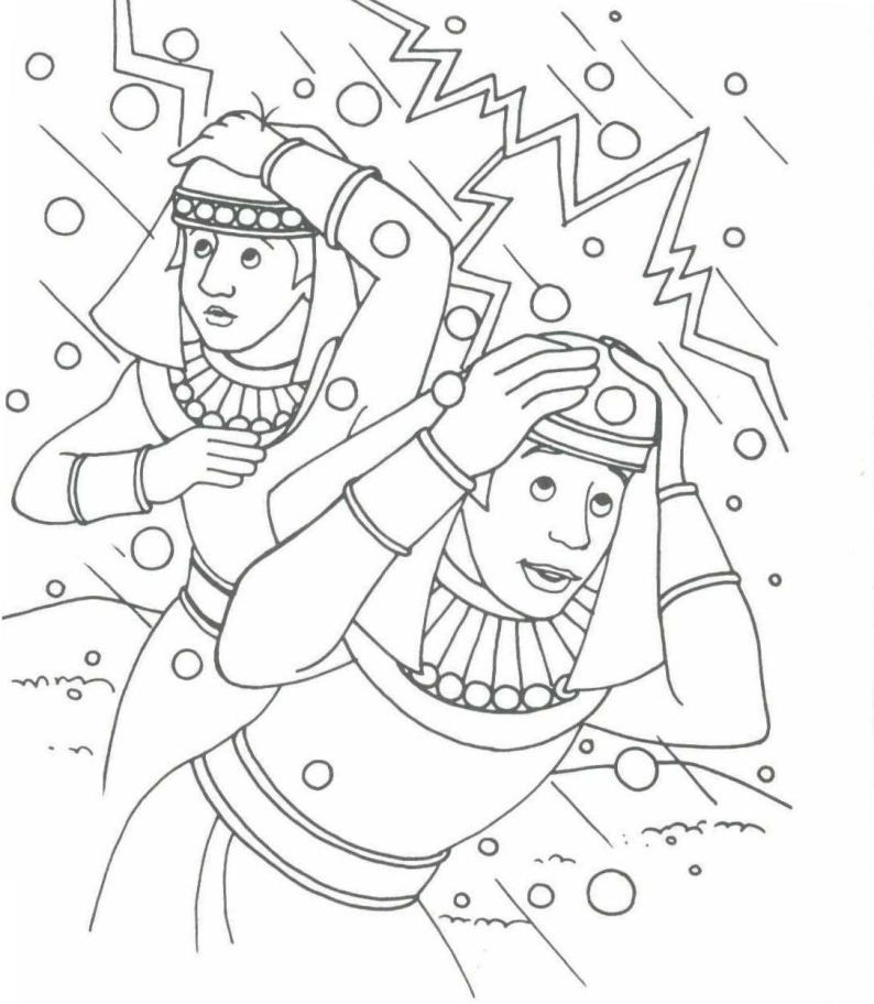 Coloring pages Moses and Jethro