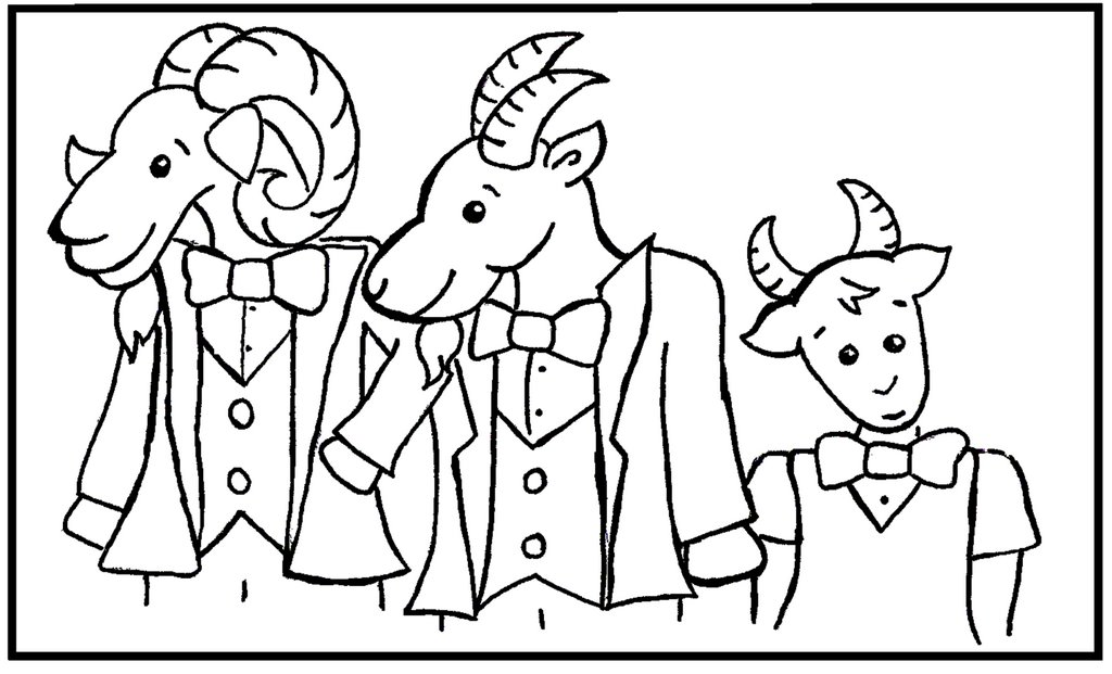 Free coloring pages of billy goat gruff troll