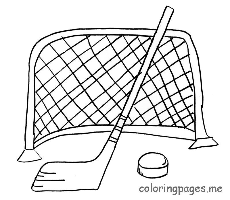 Free Printable Hockey Coloring Pages Coloring Home