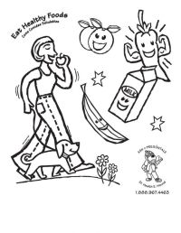 Snacks Coloring Page - Coloring Home