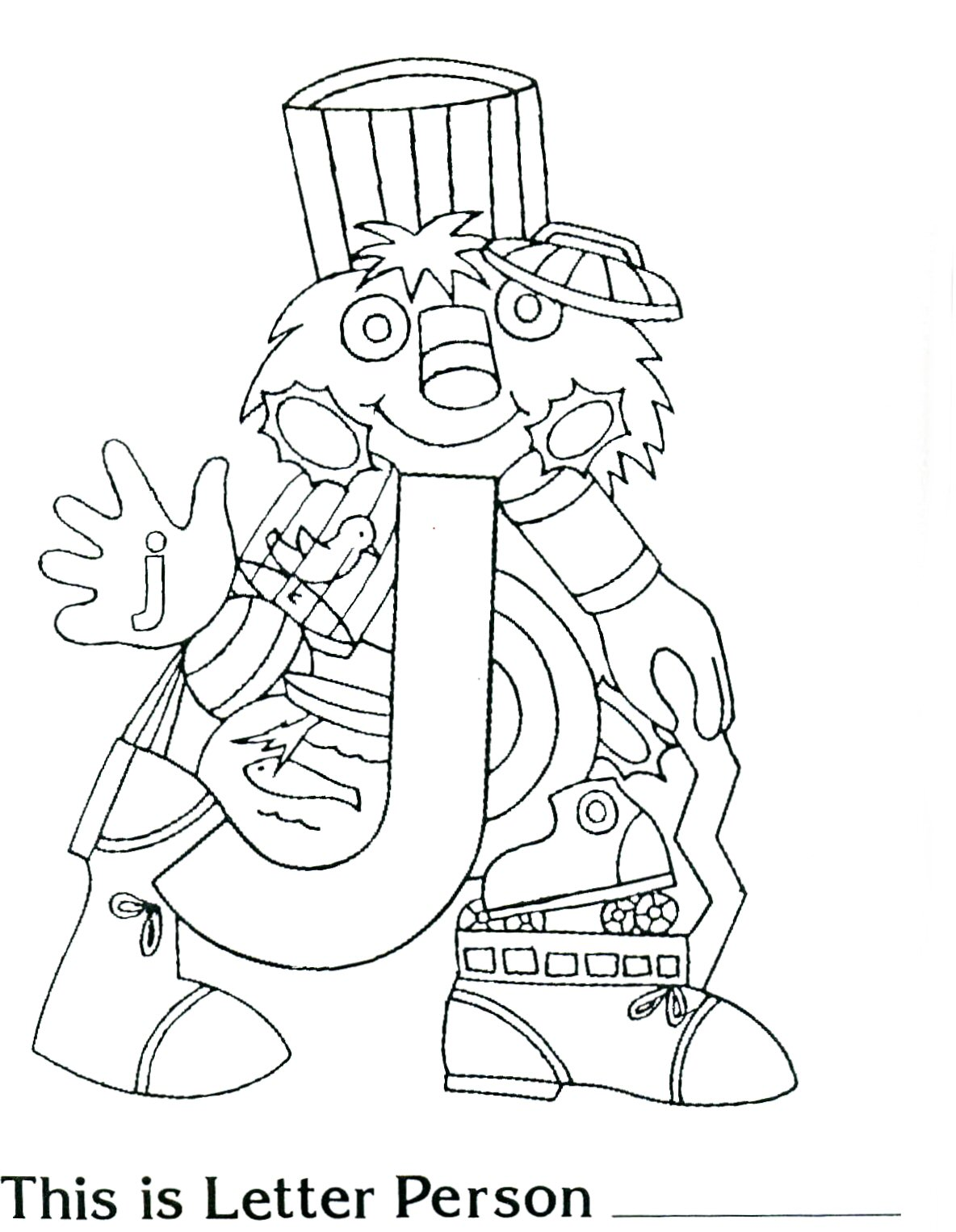 The Letter People Coloring Pages