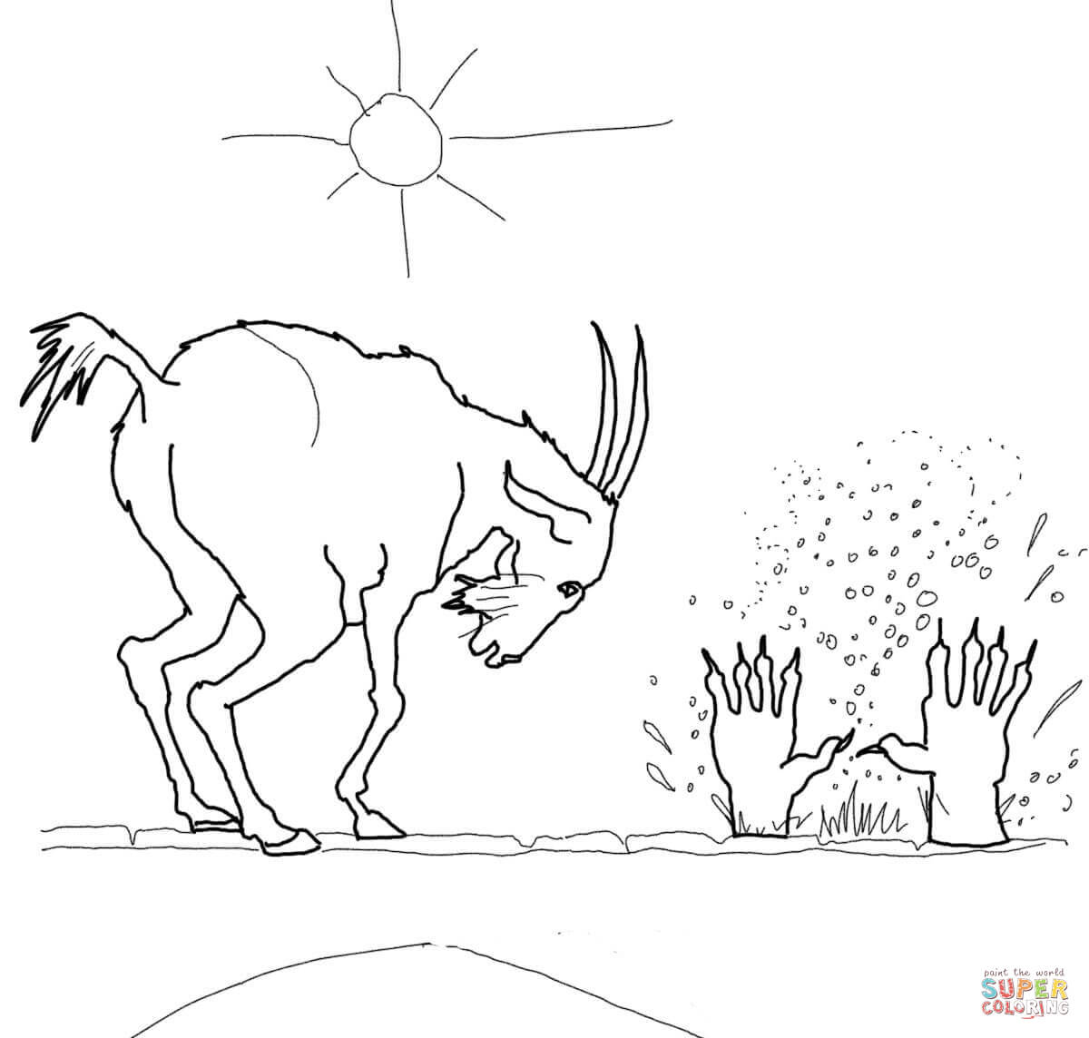 The Three Billy Goats Gruff Coloring Pages