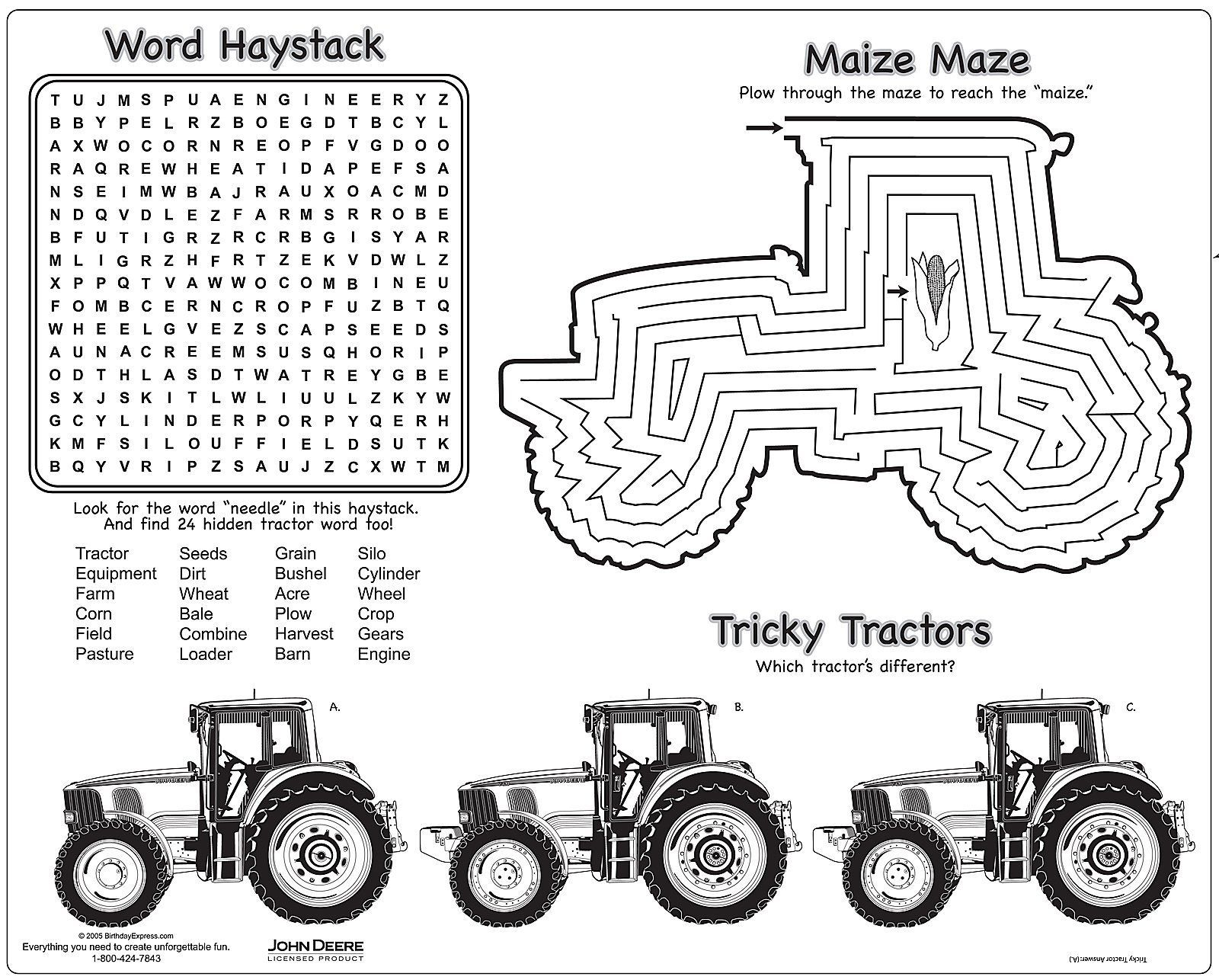 Tractor Coloring Pages John Deere
