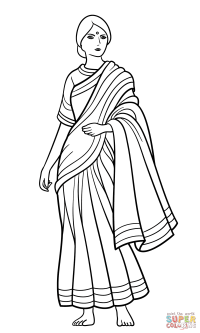 Indian Man Coloring Page - Coloring Home