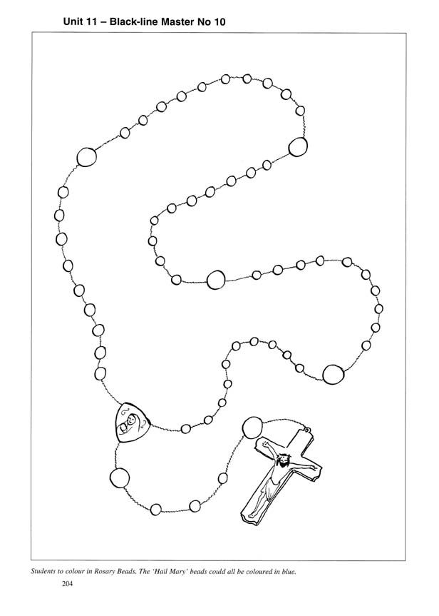 Beads Outline Rosary Mary