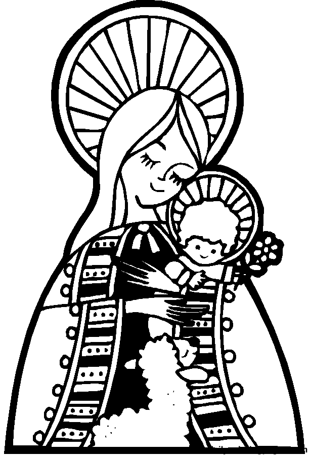 Coloring pages Mary, the mother of God