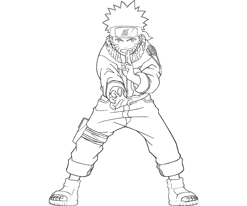 Free coloring pages of naruto tail beast mode