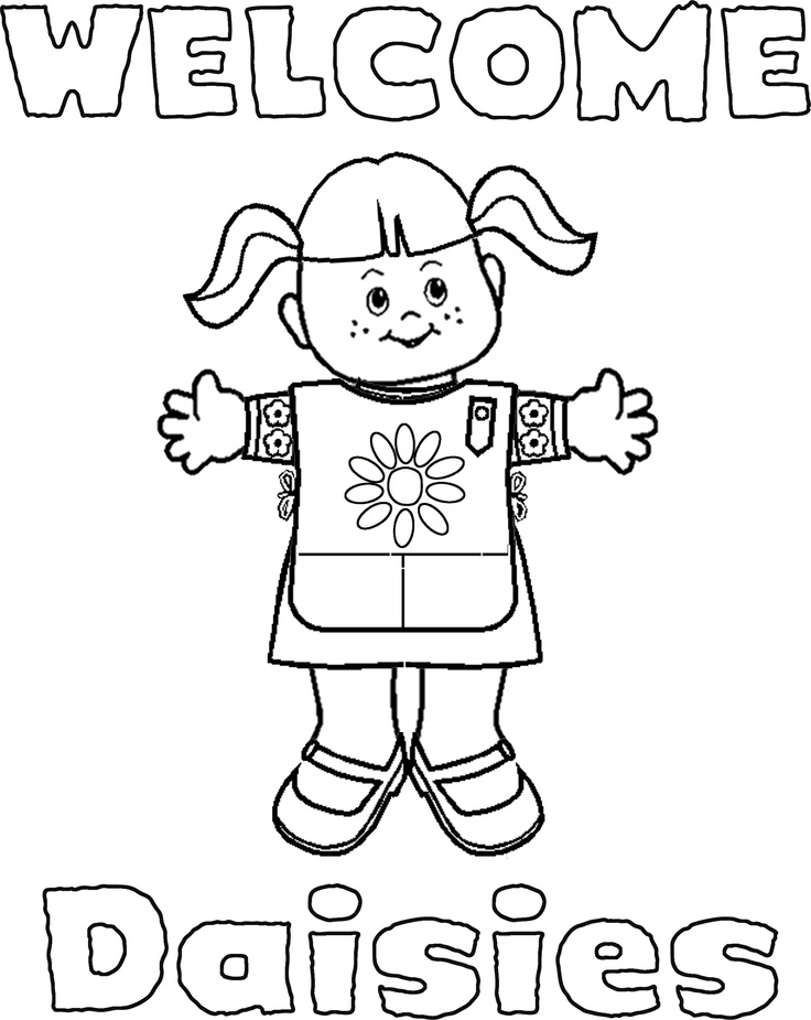 Brownie Scout Promise Coloring Pages Coloring Pages