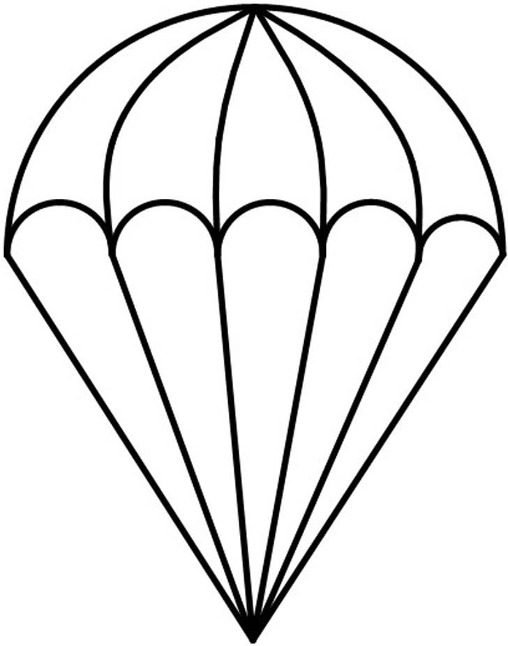 Skydiving Coloring Pages