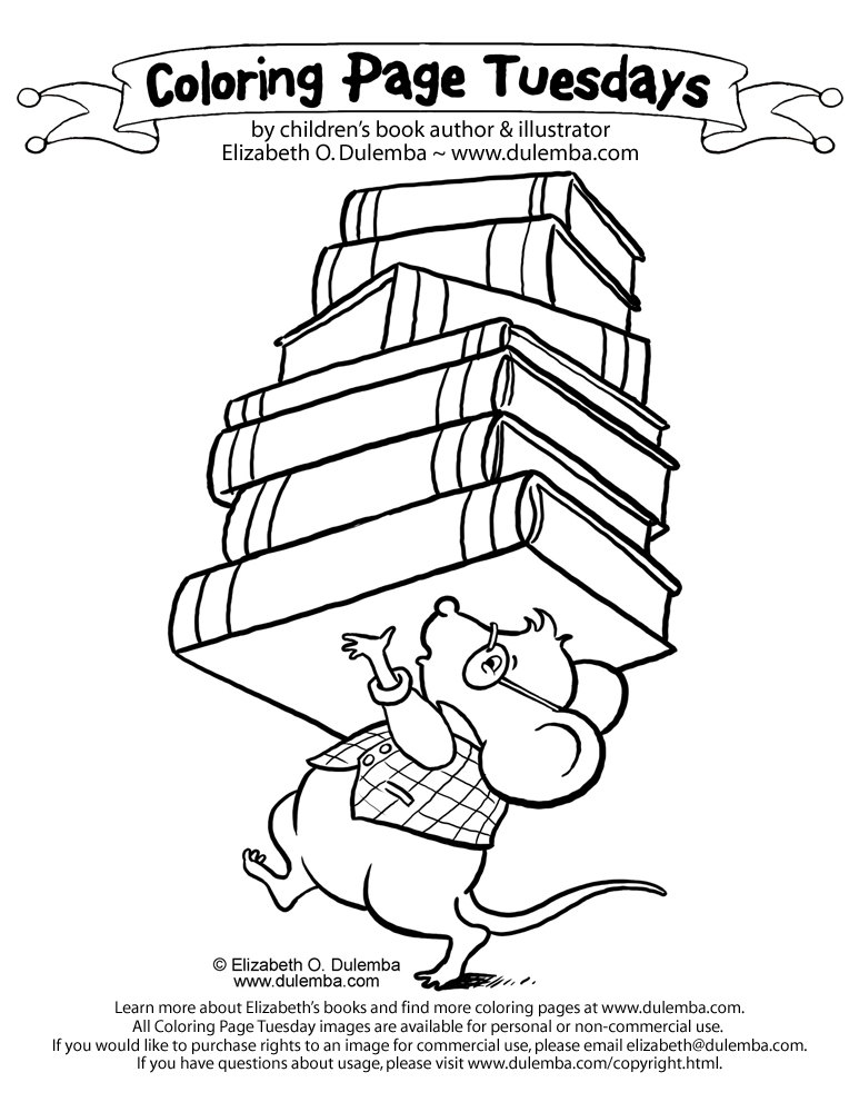If You Take A Mouse To School Coloring Pages