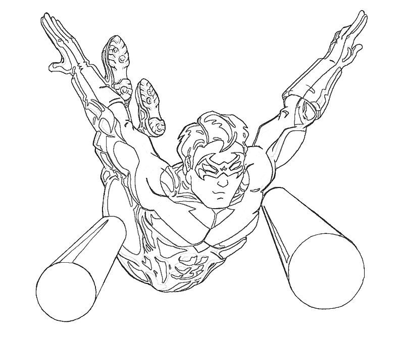 Related Keywords & Suggestions for nightwing coloring pages