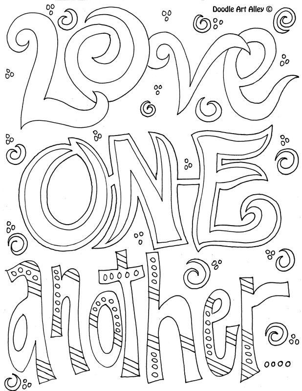 Let Us Love One Another Coloring Page Coloration