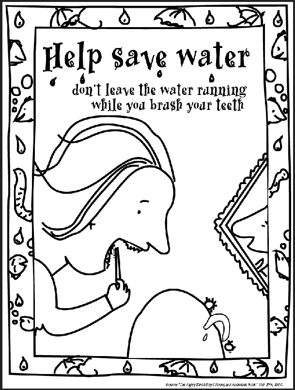 Save Water Pages Coloring Pages