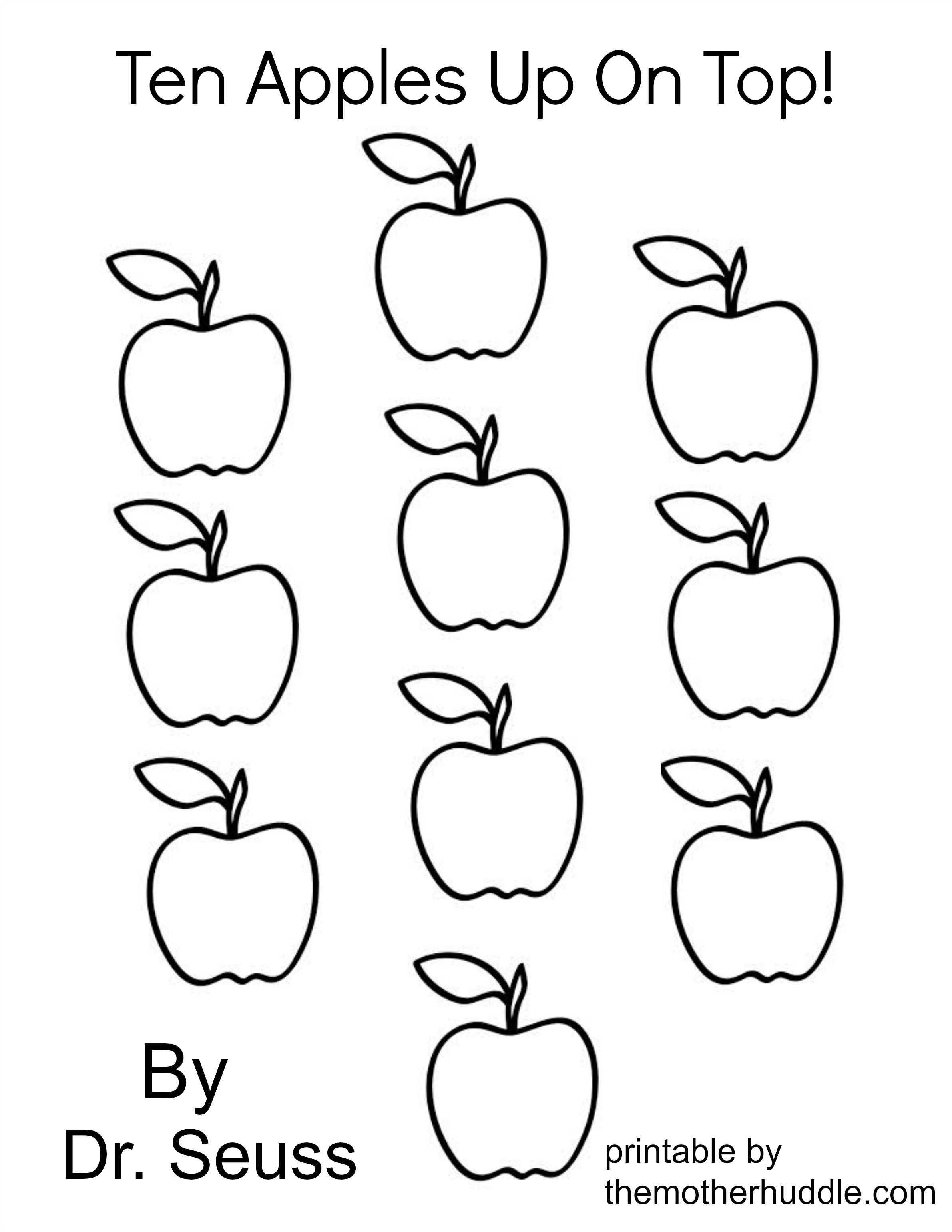 Ten Apples Up On Top Coloring Pages