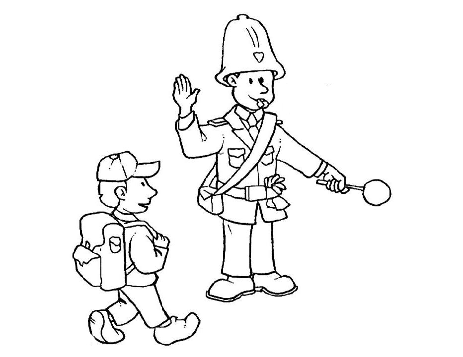 Free policia coloring pages