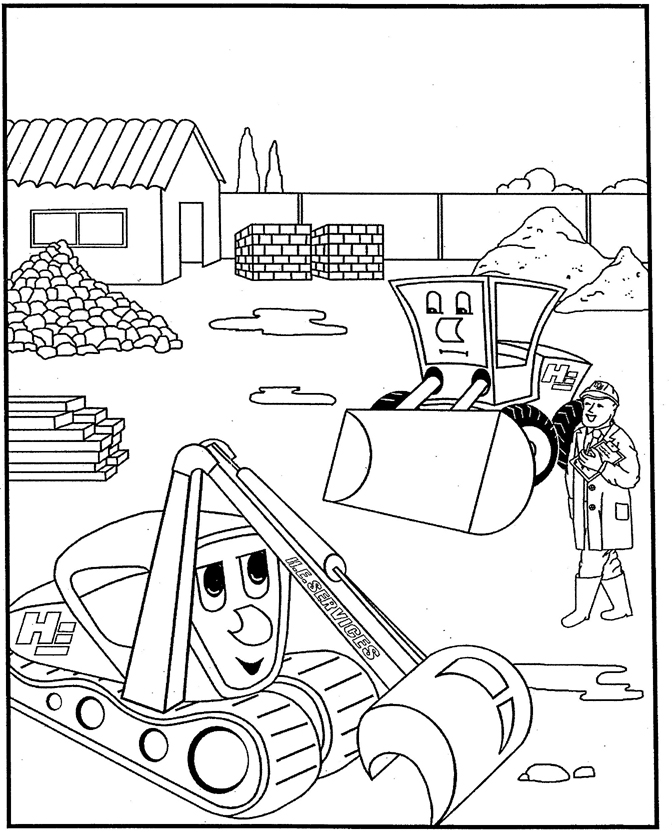 Digger Coloring Pages Az Sketch Coloring Page